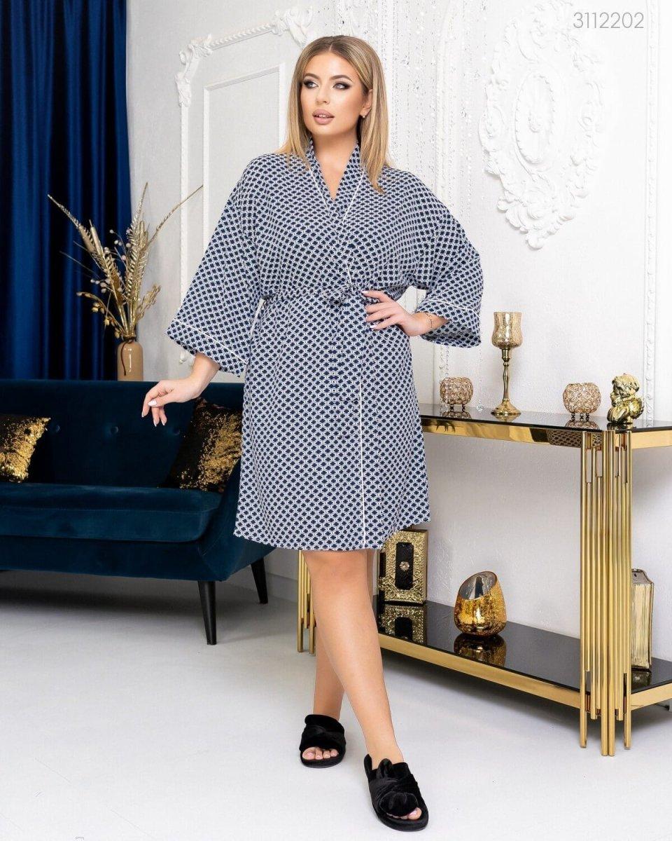 Домашній халат №3 (Синій)