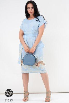 Лляна сукня 21223 Блакитний