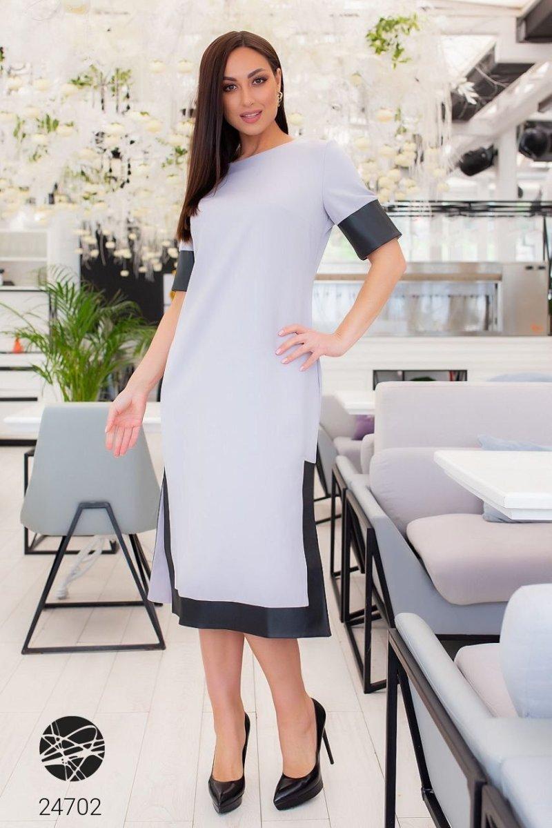 Сукня 24702 сірий