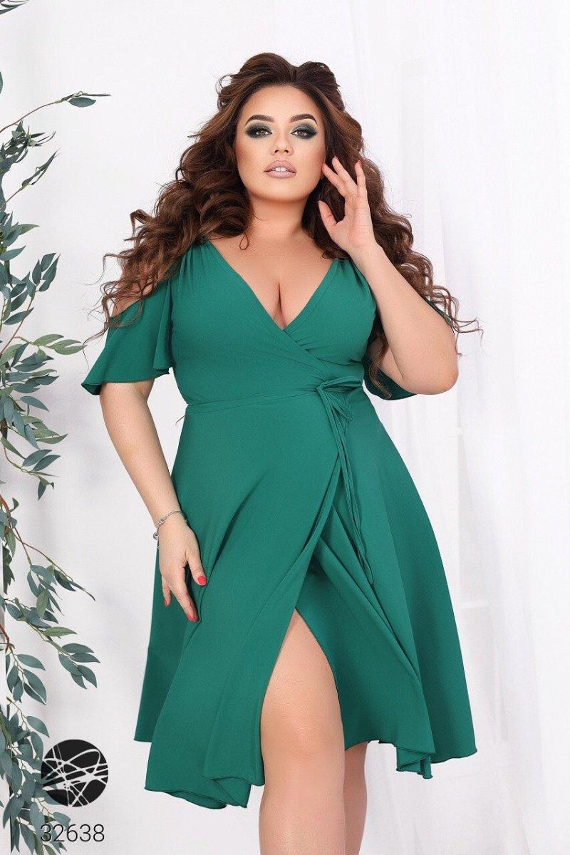 Сукня з запахом 32638 зелений