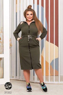 Сукня-світшот 31332 хакі