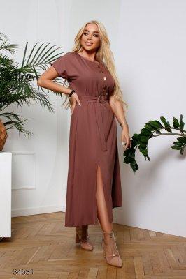Сукня міді 34631 коричневий
