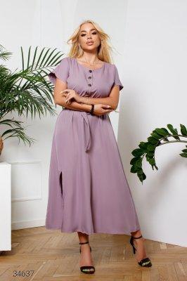 Сукня міді 34637 рожевий