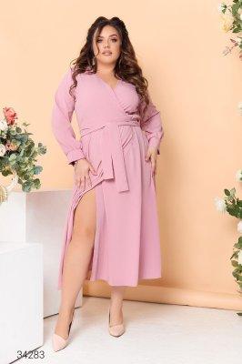 Сукня з запахом 34283 рожевий