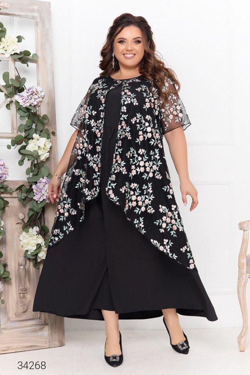 Сукня з накидкою 34268 чорний