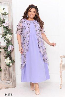 Сукня з накидкою 34258 бузковий