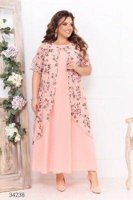 Сукня з накидкою 34238 рожевий