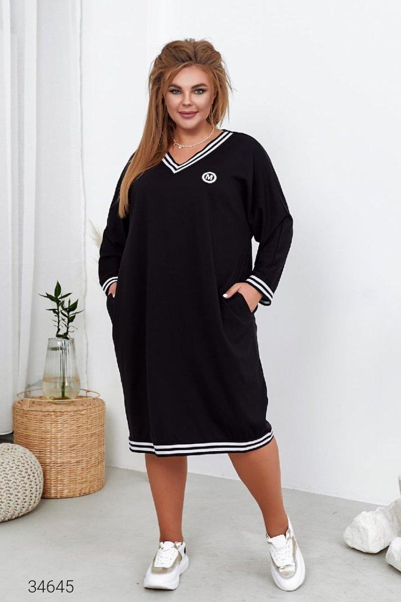 Сукня-світшот 34645 чорний