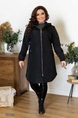 Куртка-плащ 34388 чорний