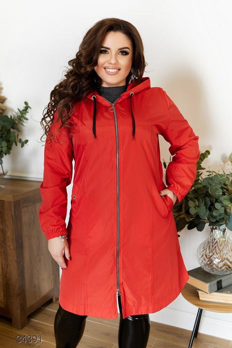 Куртка-плащ 34391 червоний