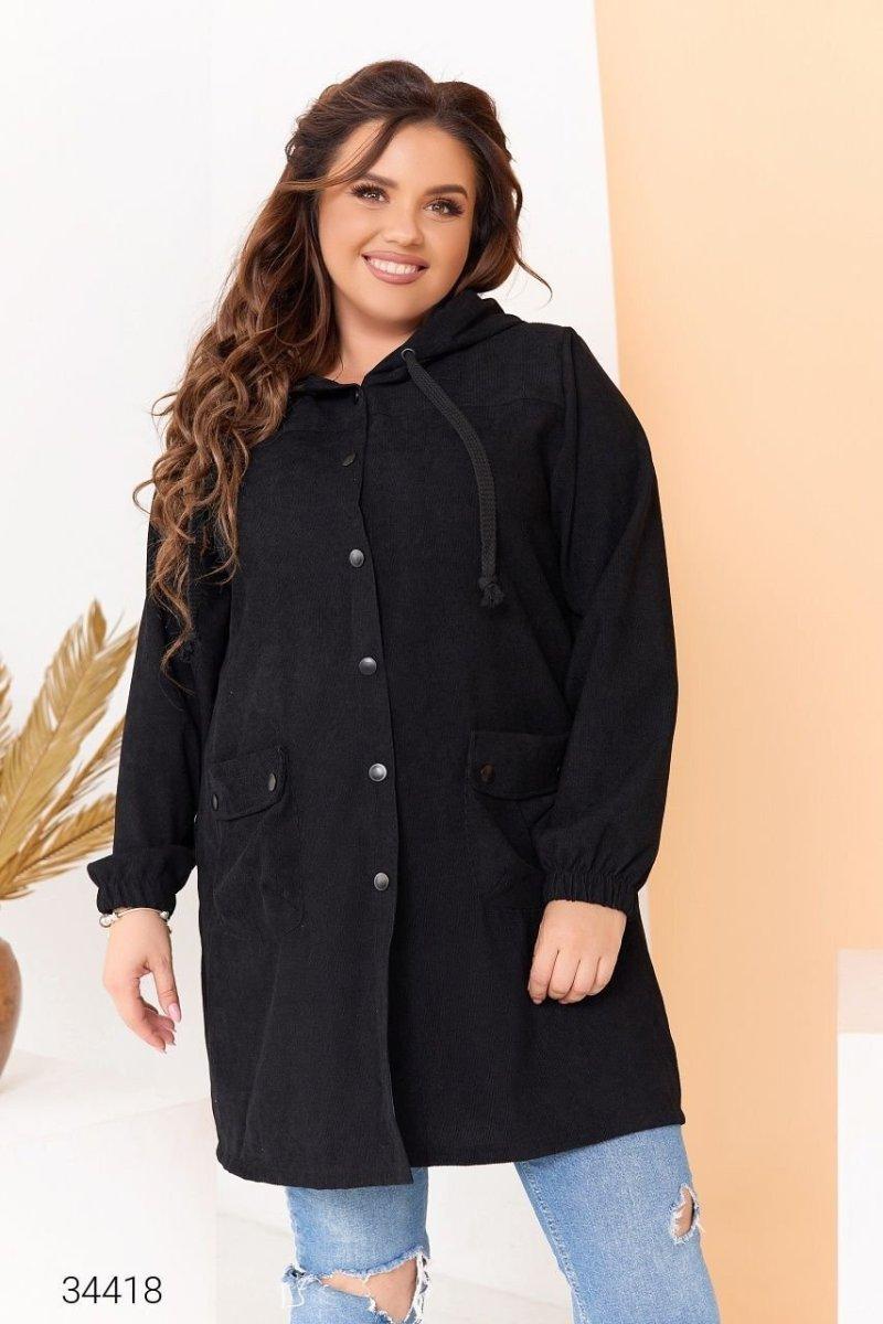 Вельветова куртка 34418 чорний