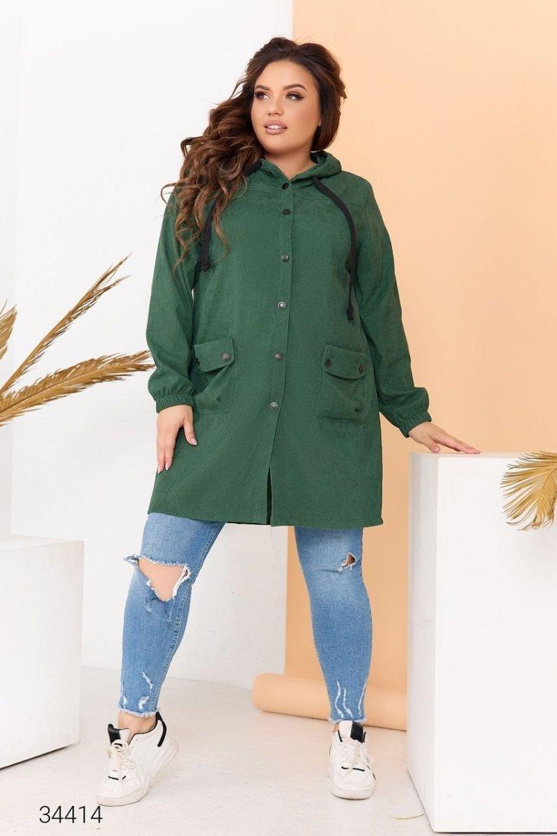 Вельветова куртка 34414 зелений